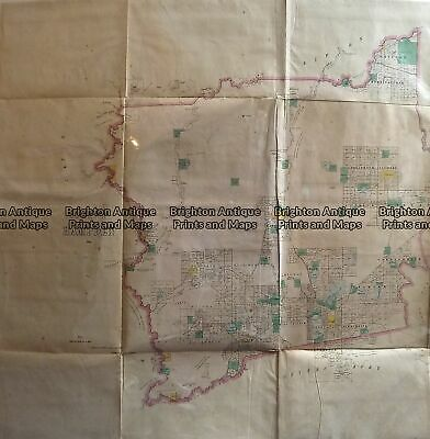 Antique Map 233-451 Victoria - County of Hampden by Bailliere c.1866