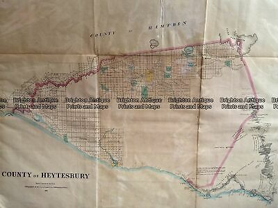 Antique Map 233-455 Victoria - County of Heytesbury by Bailliere c.1866