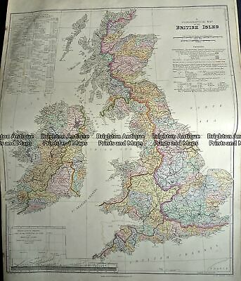 Antique Map 233-306 Britain - Hydrographical by Stanford c.1879