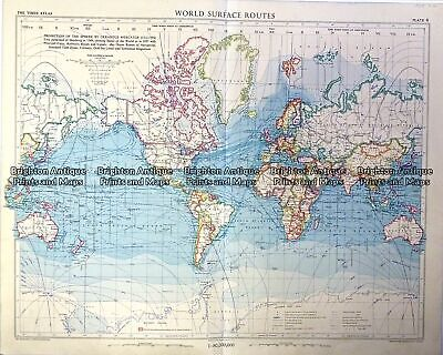 Vintage map - World Shipping Routes Ref# 232-908