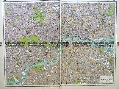 Antique map - London street map by Harmsworth c.1920 Ref# 232-917