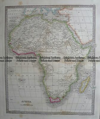 Antique Map - Africa by Teasdale c.1847