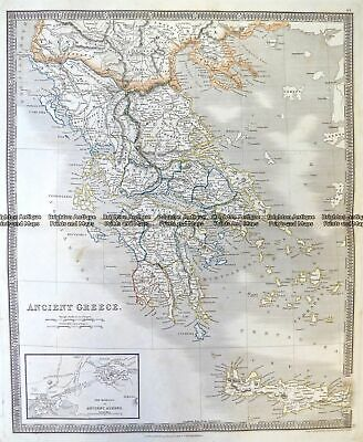 Antique Map 5-193 Ancient Greece by Teesdale c.1837