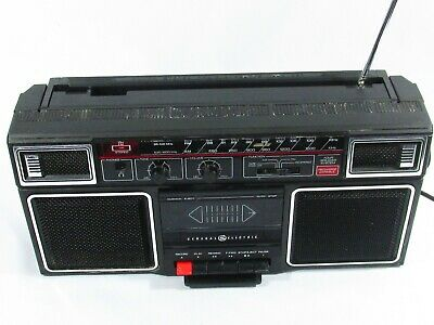GENERAL ELECTRIC 1980's Boombox Retro Vintage Radio Am/fm Cassette