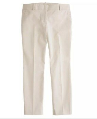J Crew Cafe Capri Pants Size 6 x 26 Beige Cropped Straight Leg Fitted Stretch