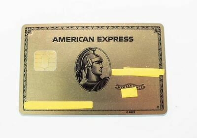 American Express Gold Card - METAL RARE - CUSTOMIZED