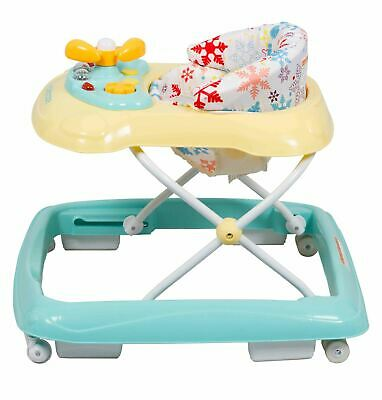 Height-adjustable Foldable Walker Toddler Baby Activity with Music and Lights