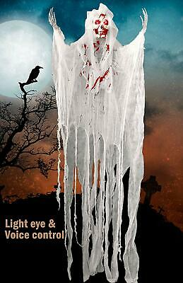5.2ft Animated Halloween Decorations Scary Haunted with Voice and Flashing Eyes