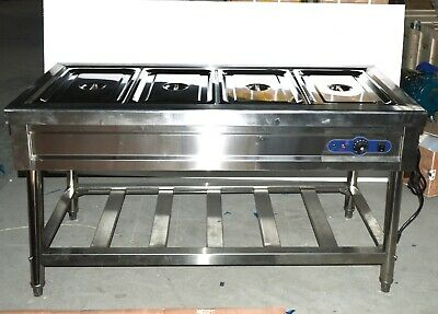 TECHTONGDA 220V 4-Well Food Warmer Steam Table Countertop, Full Size 1/1 GN Pan