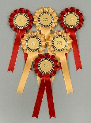 Gold//Silver Spangle 2-Tier Rosettes Well Done or CR Set x 6 Special