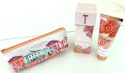 TED BAKER Giftset - Boxed Hand Cream & Make-Up Bag *NEW* / d3