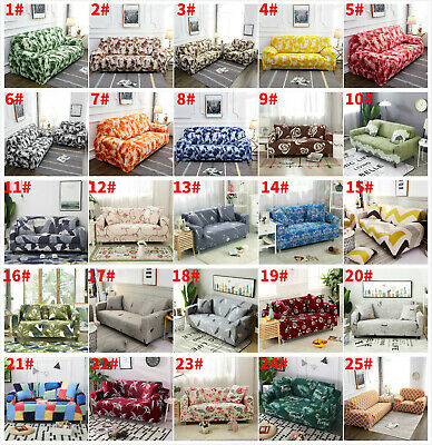 1 2 3 4 Seater Elastic Couch Stretch Sofa Full Cover Slipcover Protector Decor