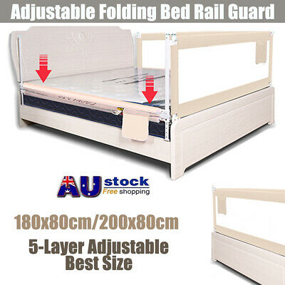1.5M//2M Kids Child Bedguard Toddler Safety Bed Rail Guard Folding Protection AU