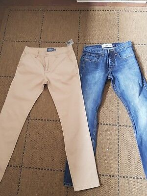 2 pairs of jeans/ chinos. by topman