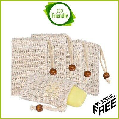 Natural Sisal Soap Saver Bag Net Mesh Exfoliator Foaming Pouch 🌱 Eco Friendly