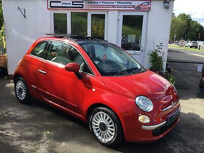 2011 11 Fiat 500 Lounge 1.2 (69bhp) Electric Glass Sunroof