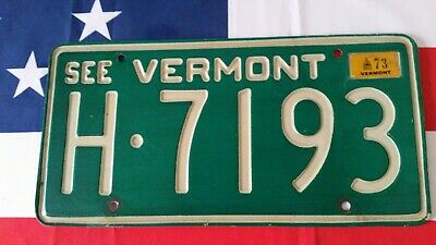 Plaque d'immatriculation Vermont H.7193 US USA license plate