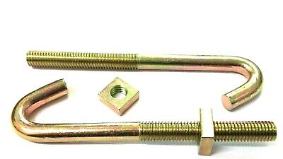 M8 x 220mm HOOK BOLTS /& SQUARE NUTS ZINC ROOFING GUTTER FENCE WEATHERPROOF ROOF