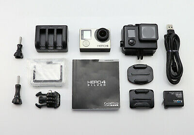 Gopro Hero 4 Silver Edition Camcorder 1080P Hd Card Action Digital Video Cam