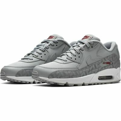 MENS WOMENS NIKE Air Max 90 Essential GreyRed Trainers