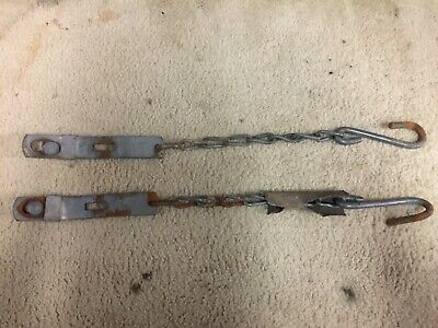 1958 - 1966 Chevy truck Tailgate chains set Fleetside Used OE