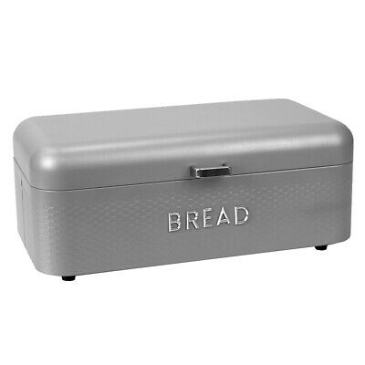 Soho Metal Bread Box Bin Kitchen Counter Dry Food Loaf Roll Storage EBY61913