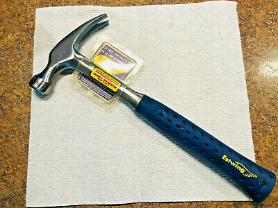 Estwing Hammer - 16 oz Straight Rip Claw with Smooth Face & Shock Reduction Grip
