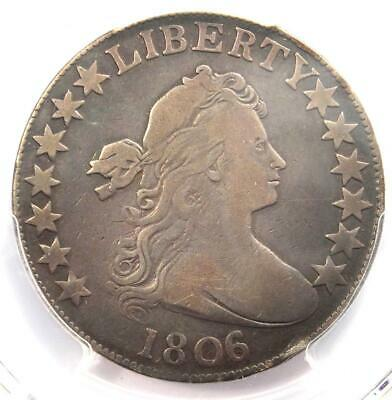 1806/5 Draped Bust Half Dollar 50C Coin Large Stars - Certified PCGS Fine Detail