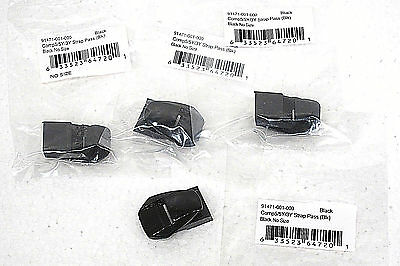 Fox Racing Comp 5 5Y 3Y Boot Strap Pass NEW 91471-001-000 Black Set of (4)