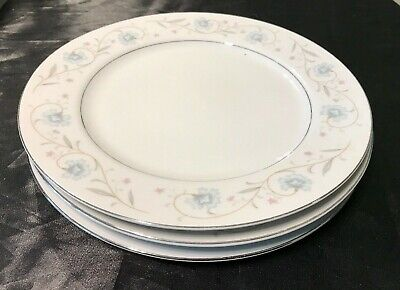 Vtg Fine China Of Japan English Garden 1221 Set/Lot Of 3 Dinner Plates Used Cond