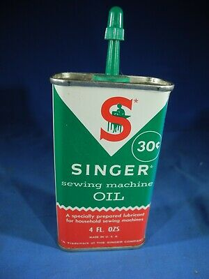Vintage Singer Sewing Machine Oil Can 4oz Handy Oiler  Excellent Condition!