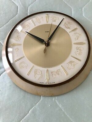 Vintage Metamec Electric Zodiac Wall Clock