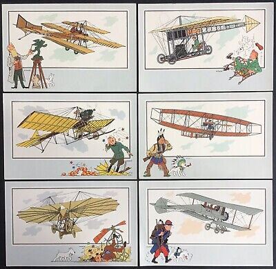 Tintin Chromos Voir and - Savoir Faire AVIATION Origins to 1914 Series 6 Mint