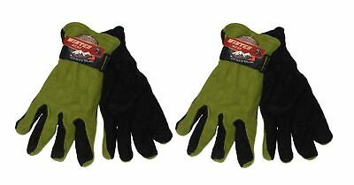 2 Pr Ladies Woman Fleece Gloves Thermal Insulated Winter Gloves GREEN -ONE SIZE