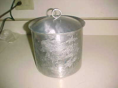 WENDALL AUGUST  Hammered Aluminum ICE BUCKET  -  McCONNELL'S MILL NW  Penna