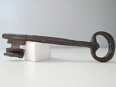 "7"" Large Antique French Rustic Key,Made 17-18th,Wrought Iron,Castle Cellar"