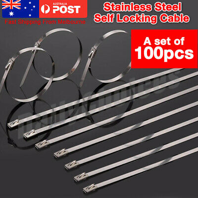 Marine Grade Stainless Steel Cable Ties Zip SS 304 High Quality Self Locking