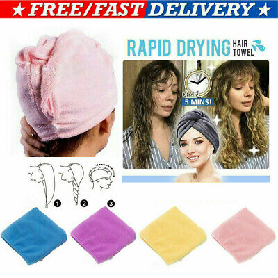 Uk Rapid Drying Hair Towel