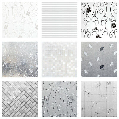 Privacy Frosted Window Film Decorative Etched Glass Self Adhesive Vinyl