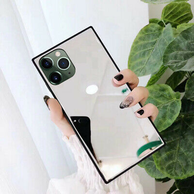 Luxury Square Mirror Case For iPhone 11 Pro Max XS XR X 8 7 6 Glass Hard Cover