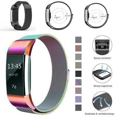 For Fitbit Charge2 Replacement Strap Milanese Band Metal Stainless Steel Strap