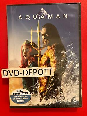 Aquaman DVD 2 DISC ***AUTHENTIC DVD READ*** Brand New FAST Free Shipping