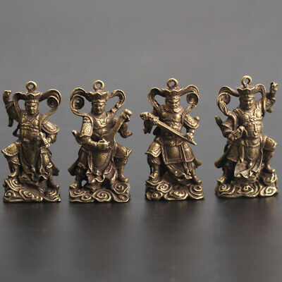 Chinese Collection Asian Brass Four Heavenly Kings Exquisite Key buckle Pendant