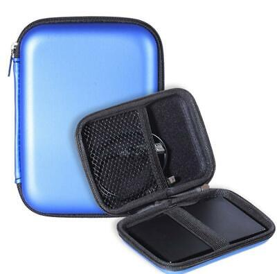 Carry Case Cover Pouch for 2.5 USB External HDD Hard Disk Drive Protect Bag blue
