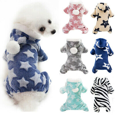 Winter Pet Dog Hoodie Soft Fleece Small Dog Jumpsuit Warm Puppy Coat Clothing