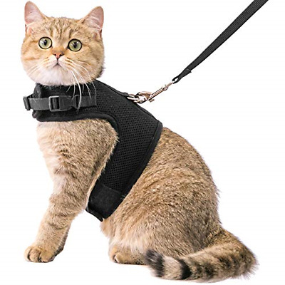 Cat Harness And Leash Escape Proof Safety Adjustable Jackets Walking Outdoor New