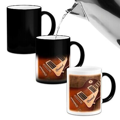 Personalised Guitar Music Rock Band Novelty Heat Colour Changing Mug