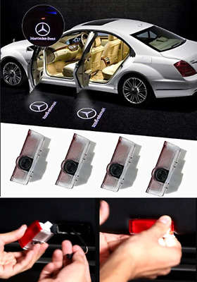 Mercedes-Benz Cree Courtesy Logo Led Projector Shadow Puddle Door Light