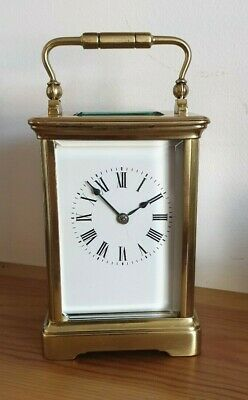 Striking 8 Day Carriage Clock   Cornish Antique  In Full Working Order