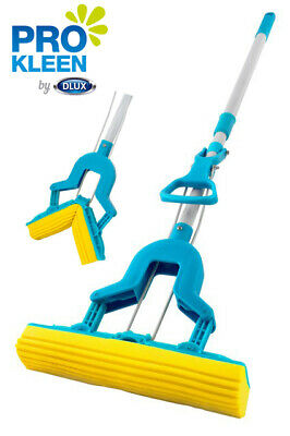 Sponge Mop Super Absorbent Foam Head Laminate Floor Cleaner Telescopic Handle